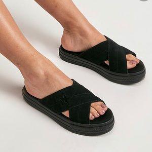 Converse One Star Sandal Slip Suede Black W AUTHEN